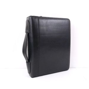 Franklin Covey Classic Black Leather Panner Binder